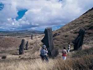 Paaseiland - de beroemde moai's