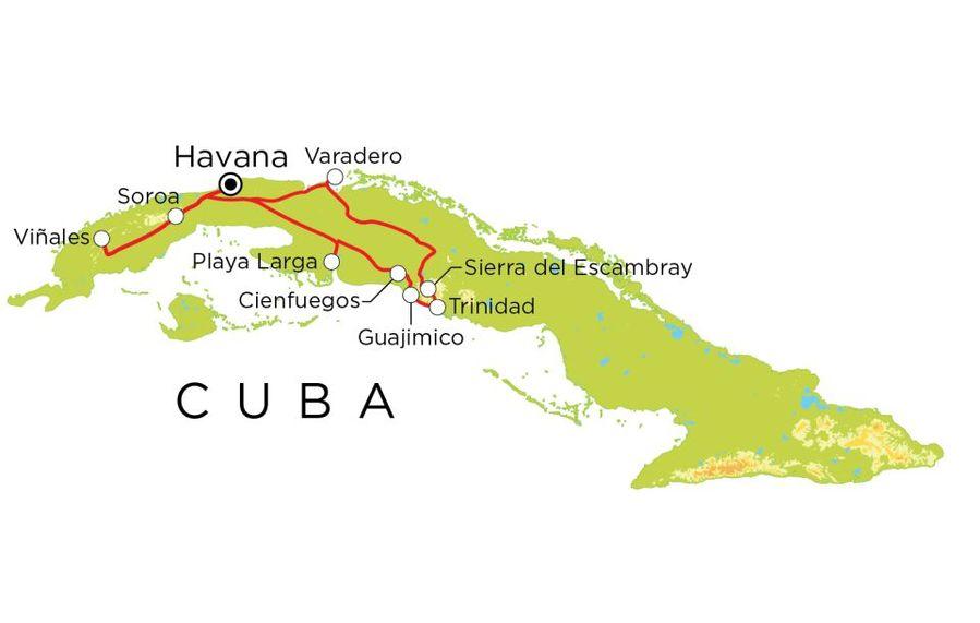 Routekaart Cuba, 20 dagen