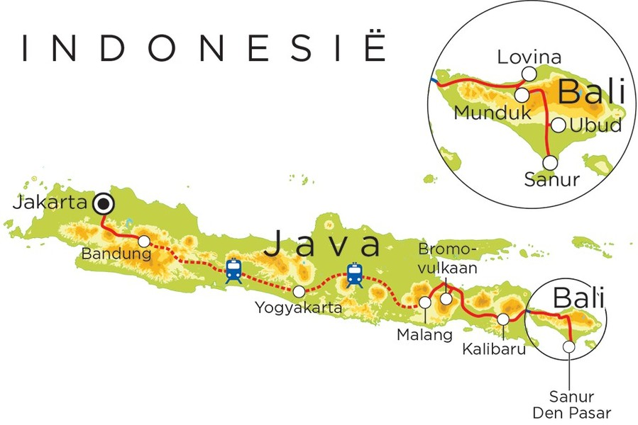 Routekaart Indonesie, 21 dagen