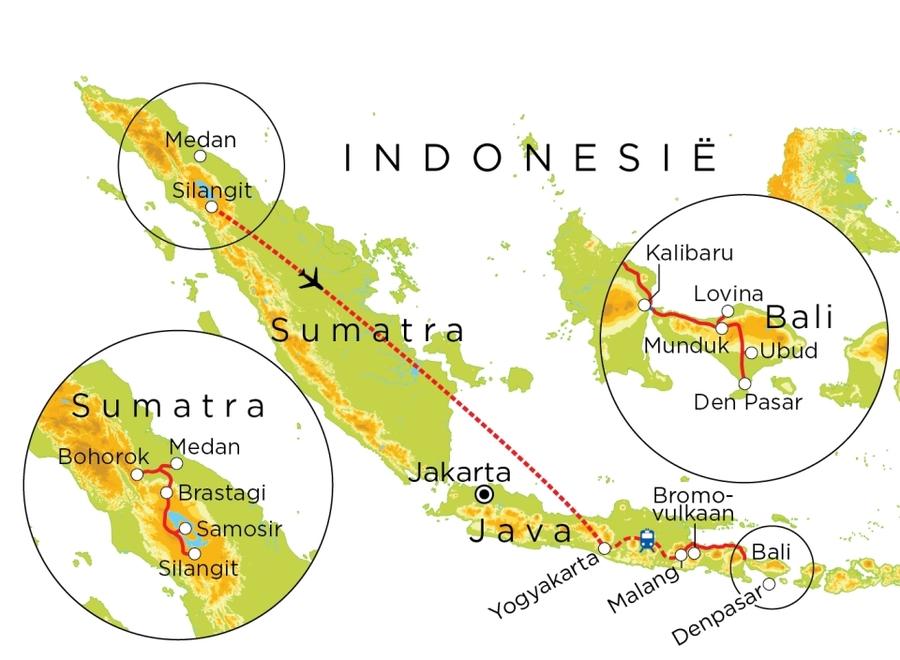 Routekaart Indonesie, 23 dagen