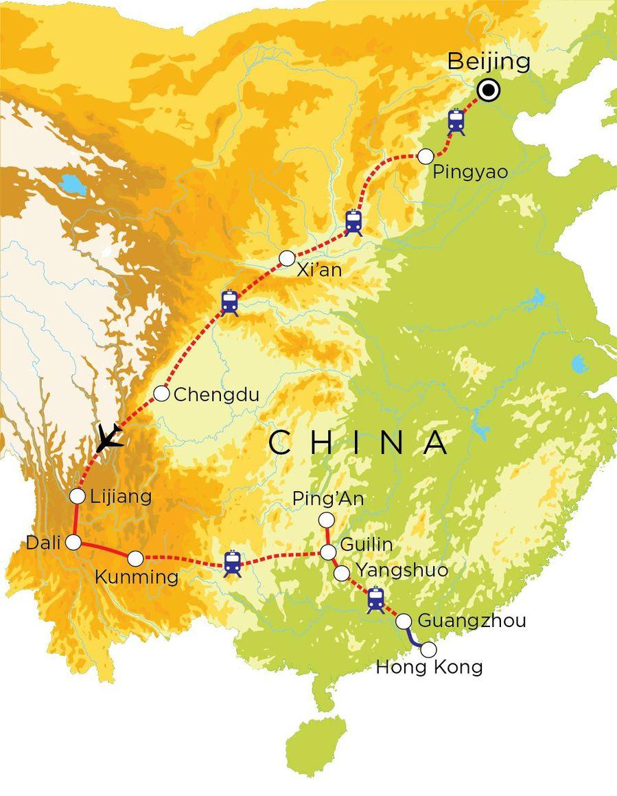 Routekaart China, 23 dagen