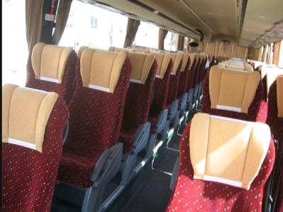 Bus Marokko binnenkant