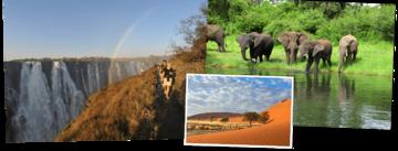 Overzicht Zuid-Afrika, Namibië, Botswana & Victoria watervallen rondreizen van Djoser